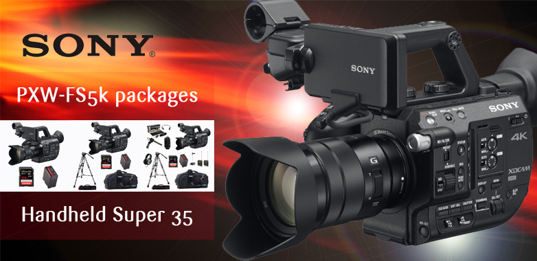 Sony PXW-FS5 packages