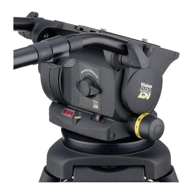 Vinten 3465-3F Flat base head with 2 telescopic pan bar