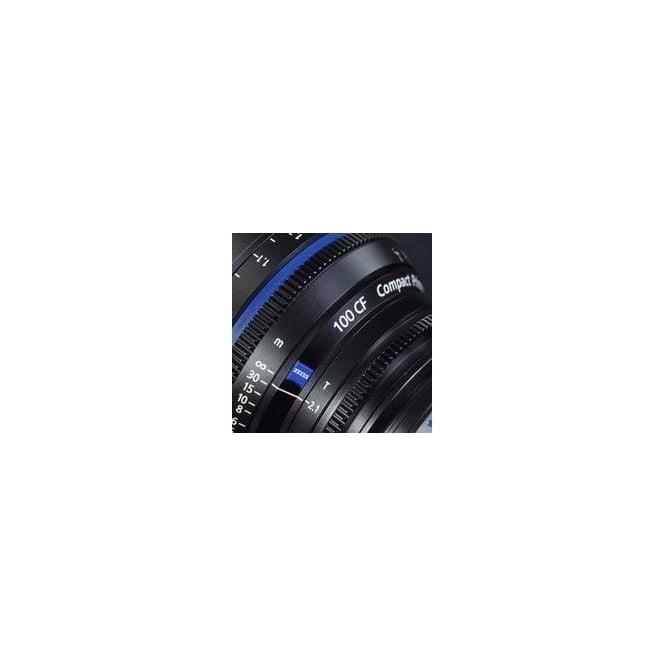 Carl Zeiss 1842-769 Compact Prime CP.2 100mm Close Focus / T2,1 T PL Mount Lens