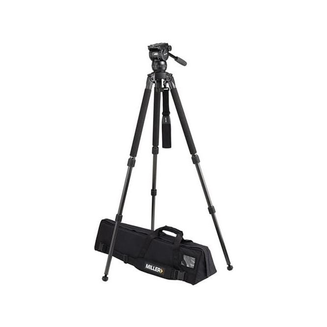 Miller Compass 12 (1033) Solo DV 2-St Alloy tripod (1630) Pan Handle (679) Strap (1520) Softcase (876)