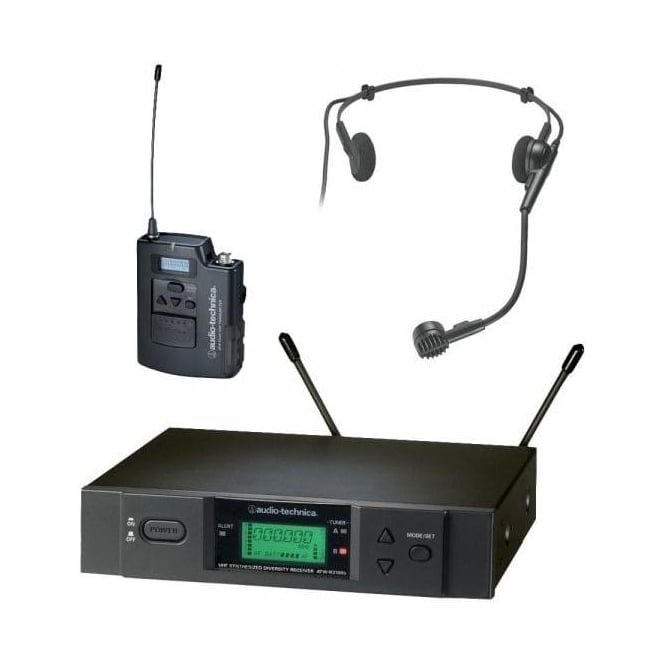 Audio-Technica ATW-3110BH UniPak system with PRO8HEcW