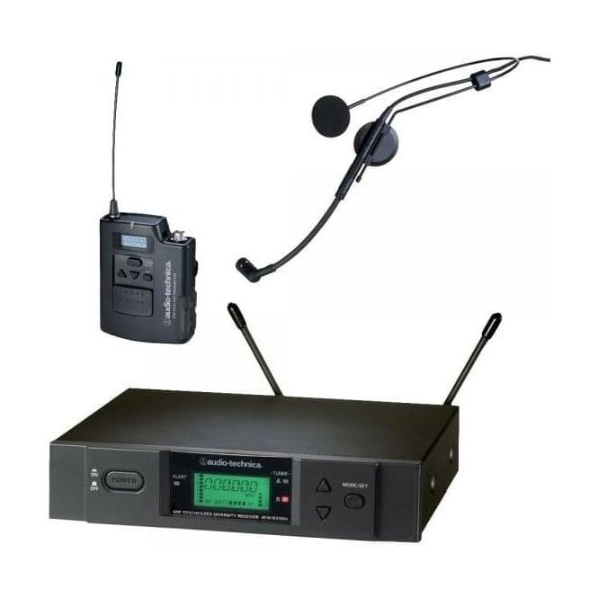 Audio-Technica ATW-3110BHC2 UniPak system, with ATM73cW