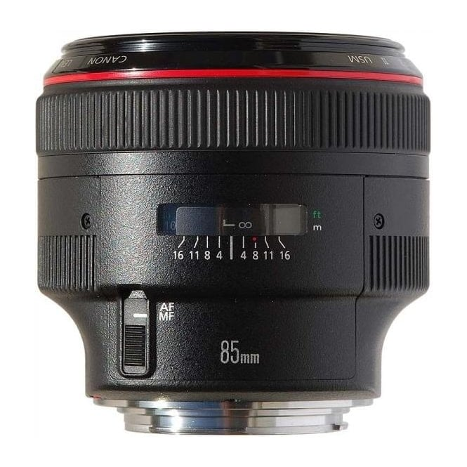 Canon EF 85mm f/1.2L II USM fixed focal length lens