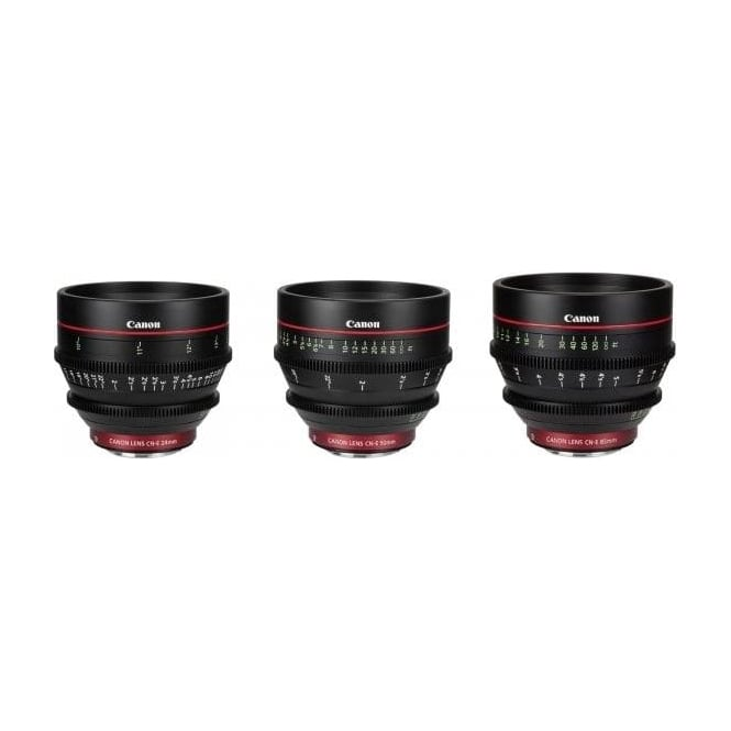Canon CN-E 3 EF Mount Prime Lens Bundle 14, 50, 85 with Peli Case