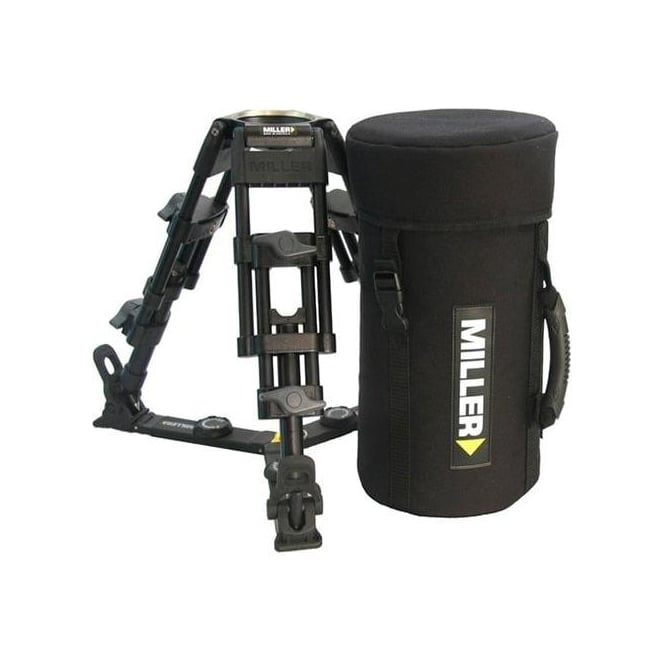 Miller Baby Legs 2-Stage Alloy Tripod with spreader and softcase