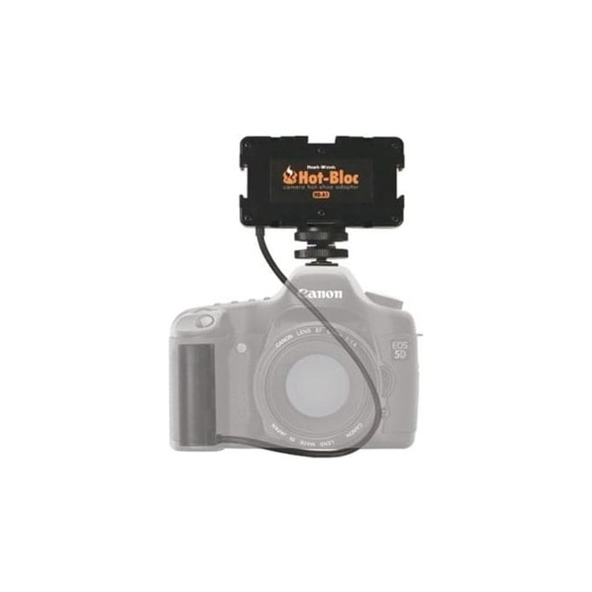 Hawk-Woods HB-5D Hot-Bloc 3-Way Hot-Shoe NPF Battery Canon 5D