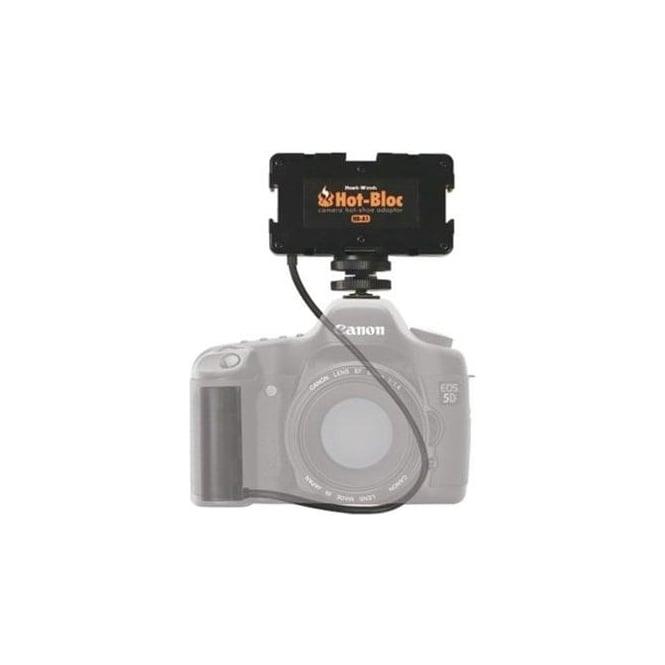 Hawk-Woods HB-5D Hot-Bloc 3-Way Hot-Shoe NPF Battery Canon 5D