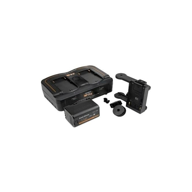 Hawk-Woods BST-K1 Blackmagic Pocket Camera Boost Power Kit - 1x Adaptor - 1x Dual Charger - 1x BP-30U