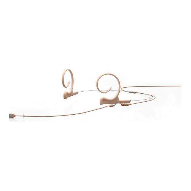 DPA FIOF00-2 d:fine Dual-Ear Omni Headset Mic, Beige, 110 mm Boom, MicroDot