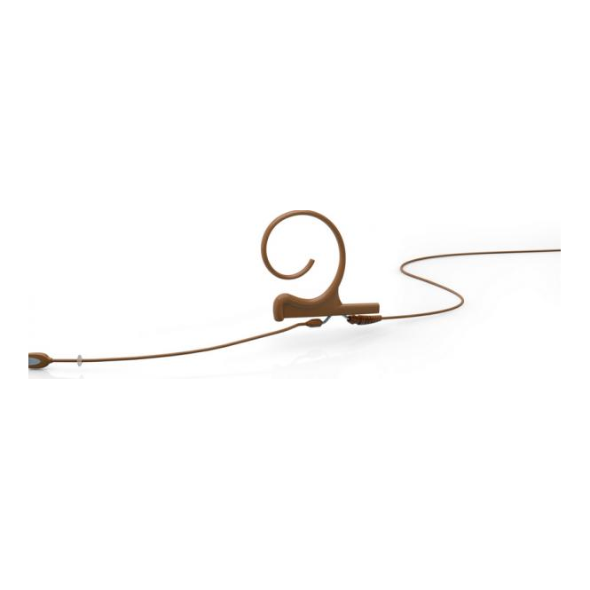 DPA FIOC00 d:fine Single-Ear Omni Headset Mic, Brown, 110 mm Boom, MicroDot