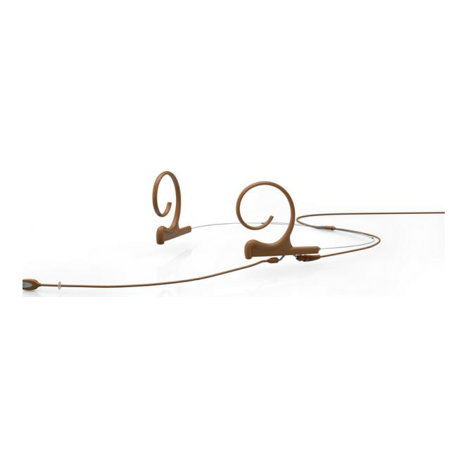 DPA FIDC00-2 d:fine Dual-Ear Directional Headset Mic, Brown, 120 mm Boom, MicroDot