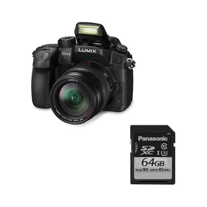 Panasonic DMC-GH4 Lumix G Compact Camera DSLM Package c