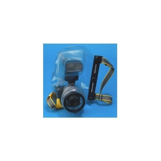 Ewa Marine D-AX Camera Housing as D-A but allows use of a mounted flash unit