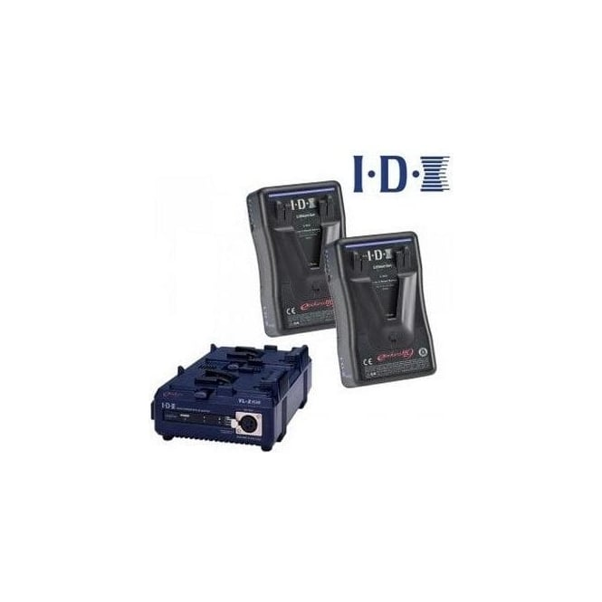 IDX EP-9/2S 2 x ENDURA-HL9 Batteries, 1 x VL-2SPlus Charger