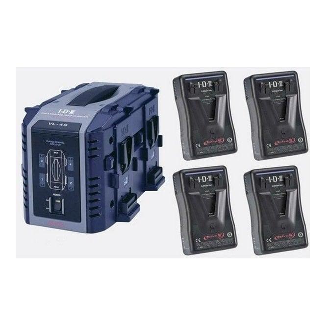 IDX EP-9/4S 4 x ENDURA-HL9 Batteries, 1 x VL-4S Charger