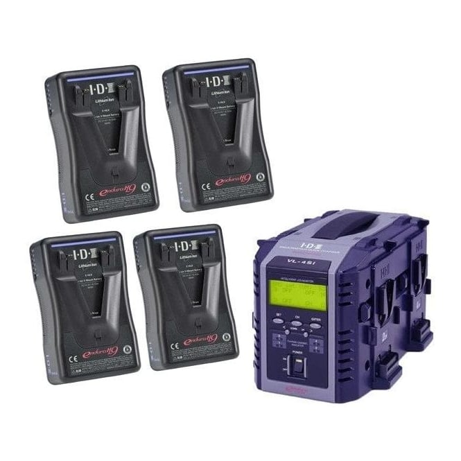 IDX EP-9/4Si 4 x ENDURA-HL9 Batteries, 1 x VL-4Si Charger