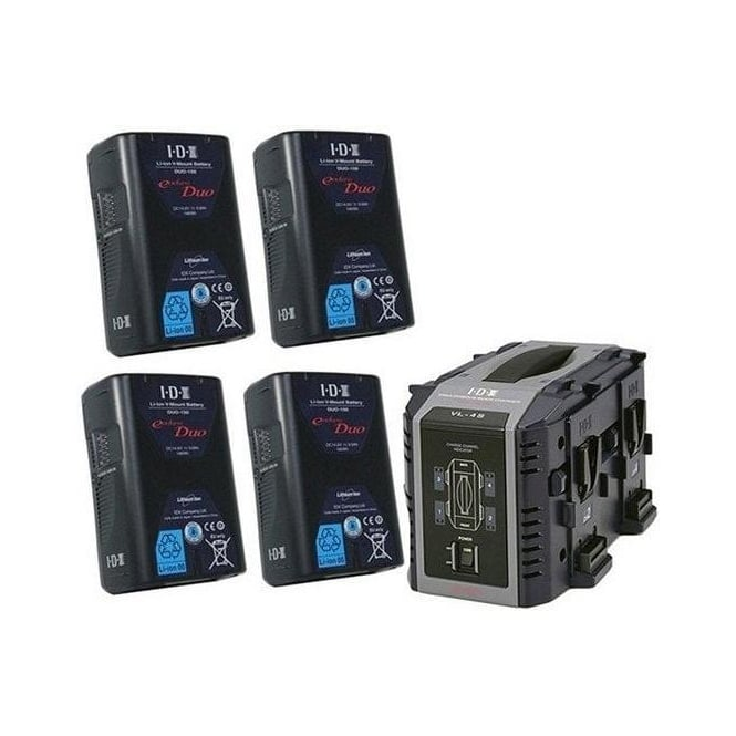 IDX ED-150/4S 4 x ENDURA DUO-150 Batteries, 1 x VL-4S Charger