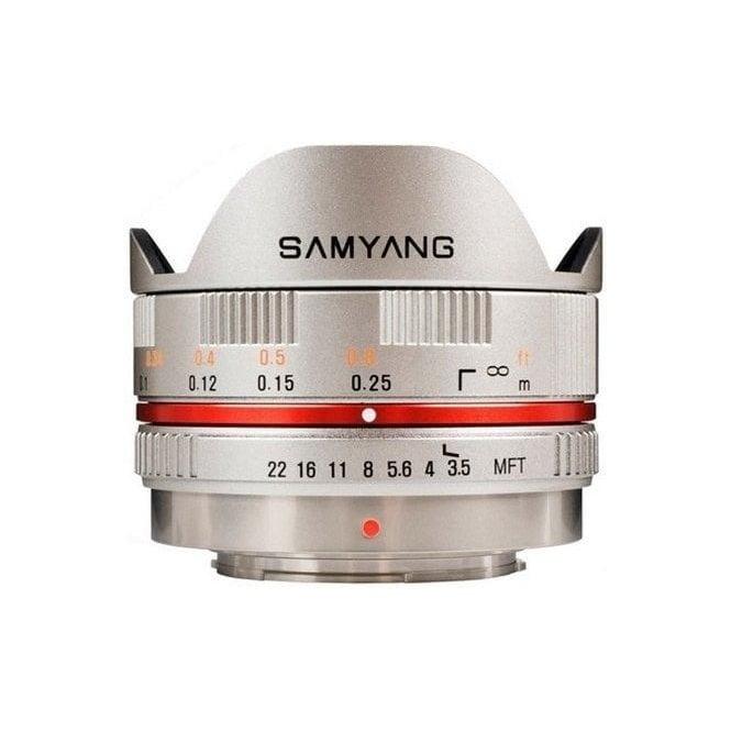 Samyang 7601 7.5mmFISHEYE F3.5 M4/3 Lens - Silver