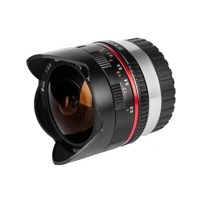 Samyang 7607 8mm FISHEYE F2.8 Lens SAM-NX Blk, black