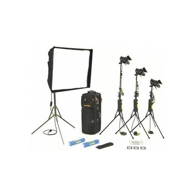Dedolight KDS31B 1 x Soft head, 3 x Hard heads Basic Lighting Kit