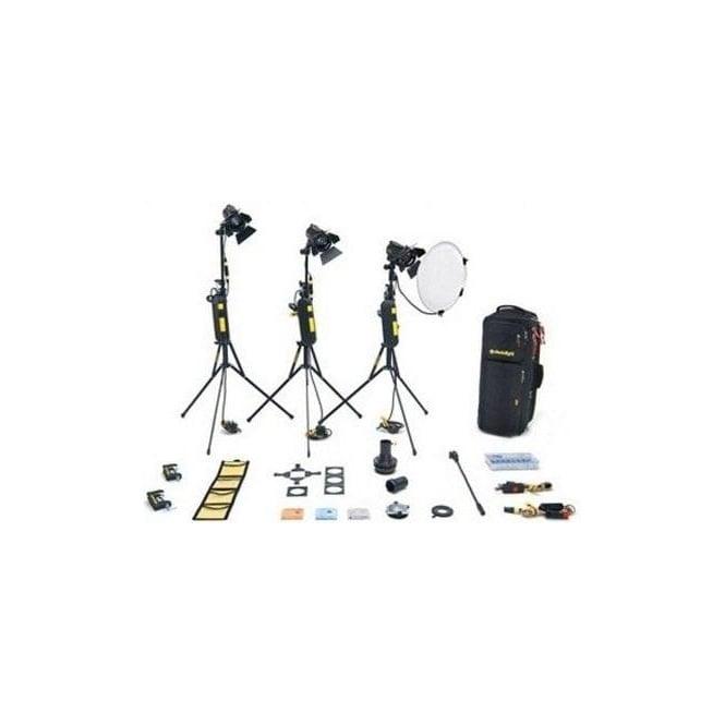 Dedolight KD3M 3 HEAD 150w Master Dimmer Kit Soft Case