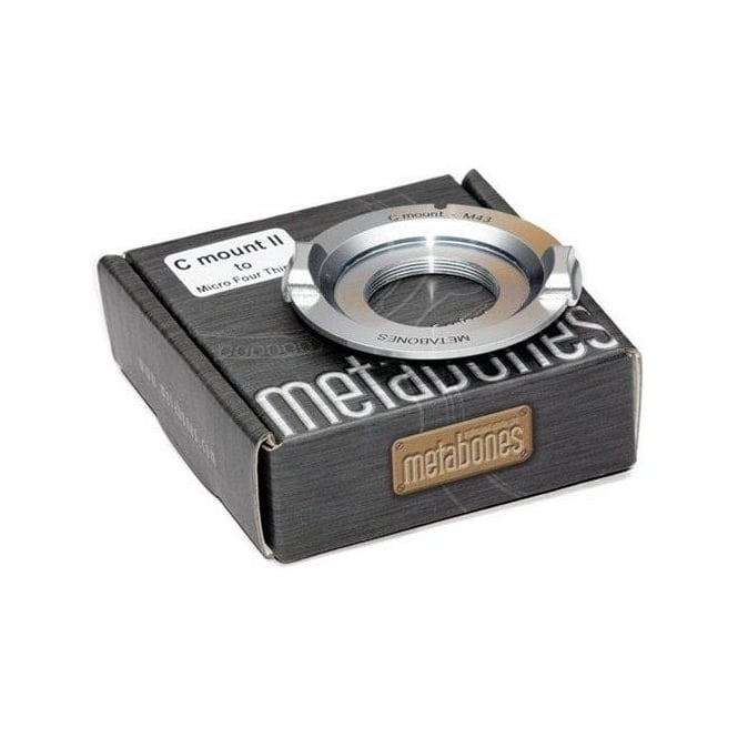Metabones MB_C-m43-CH3 C-mount to Micro FourThird adapter Chrome