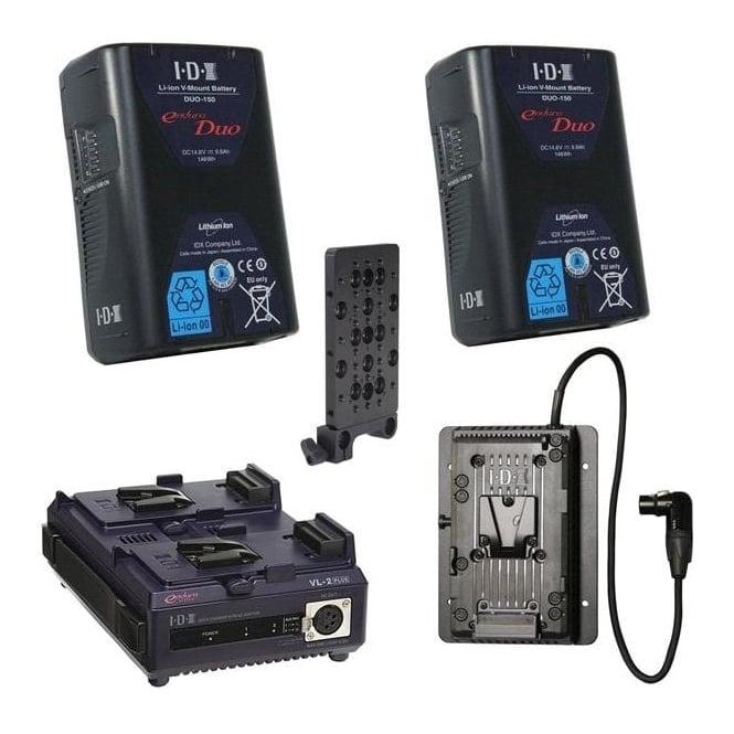IDX EC-150/2S 2 x ENDURA CUE-150 Batteries, 1xVL-2SPlus Charger