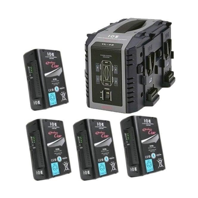 IDX EC-95/4S 4 x ENDURA CUE-95 Batteries, 1 x VL-4S Charger