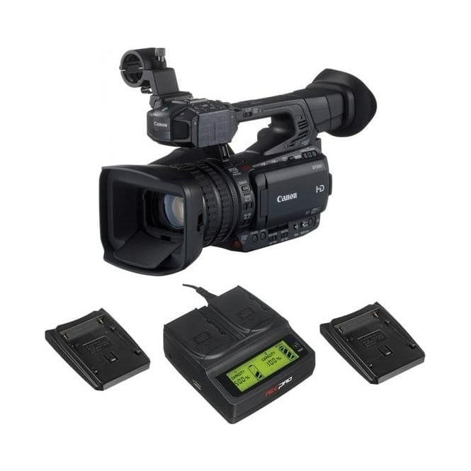 Canon XF200 Compact HD Camcorder with a charger package a
