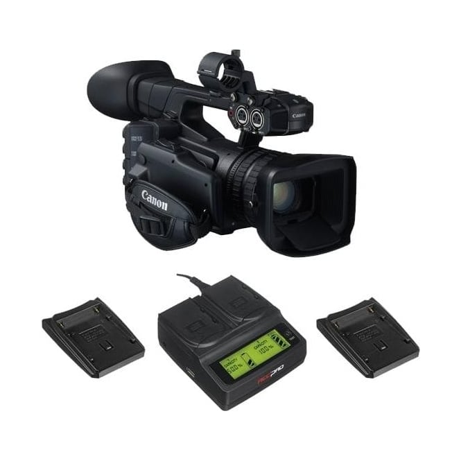 Canon XF205 Compact HD Camcorder with a charger package a
