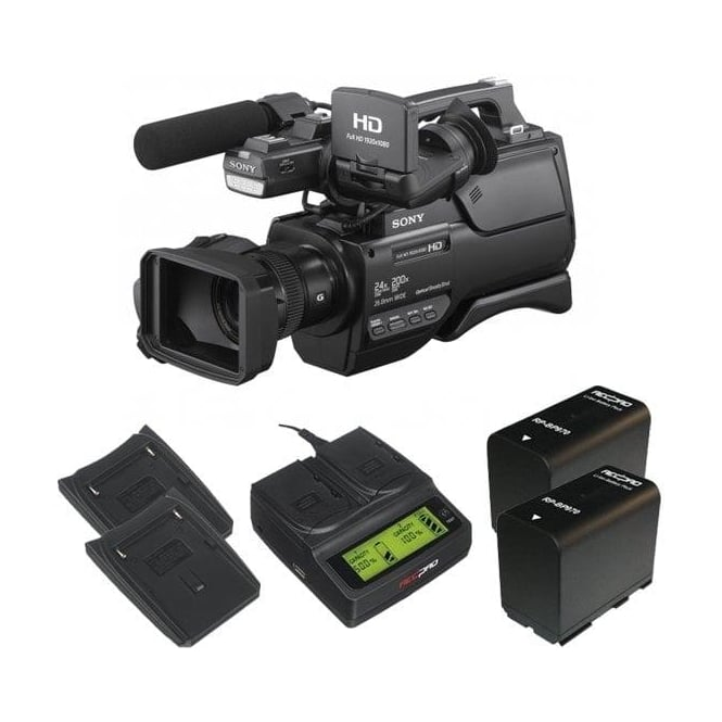Sony HXR-MC2500E HD / SD NXCAM AVCHD Camcorder with the charger and 2 batteries package b