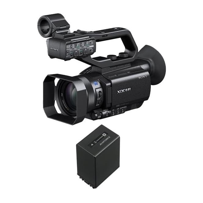 Sony PXW-X70 XD Camcorder 4k featured with a battery package a