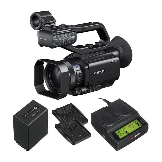 Sony PXW-X70 XD Camcorder 4k featured with battery and a charger package b