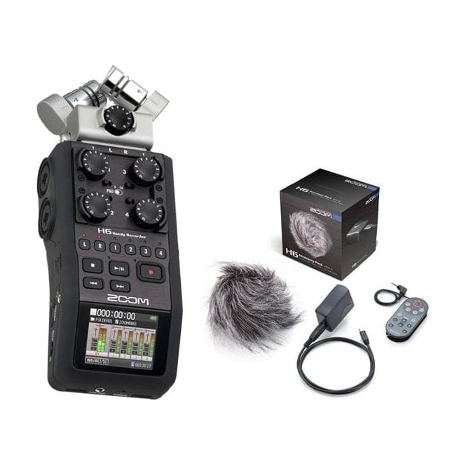 Zoom H6 handy recorder package a