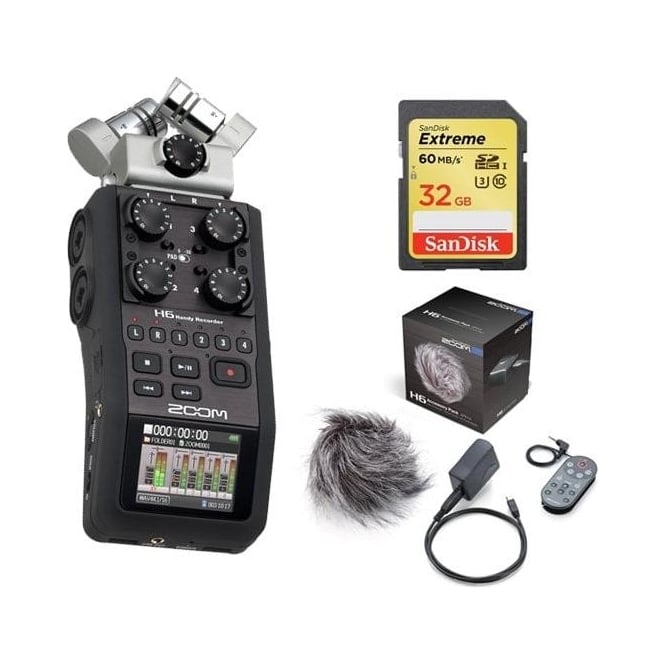 Zoom H6 handy recorder package b
