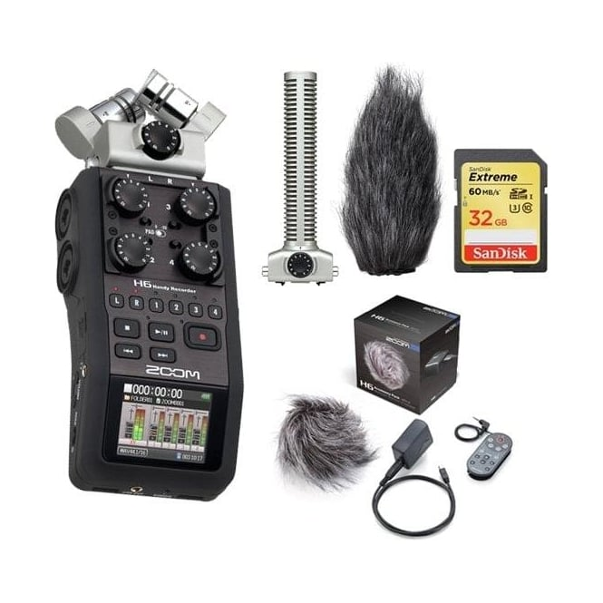 Zoom H6 handy recorder package c