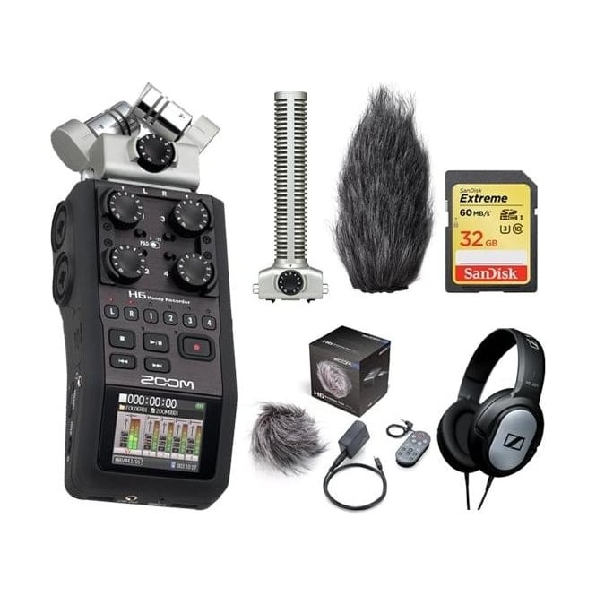 Zoom H6 handy recorder package d