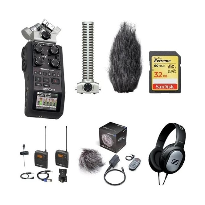 Zoom H6 handy recorder package e