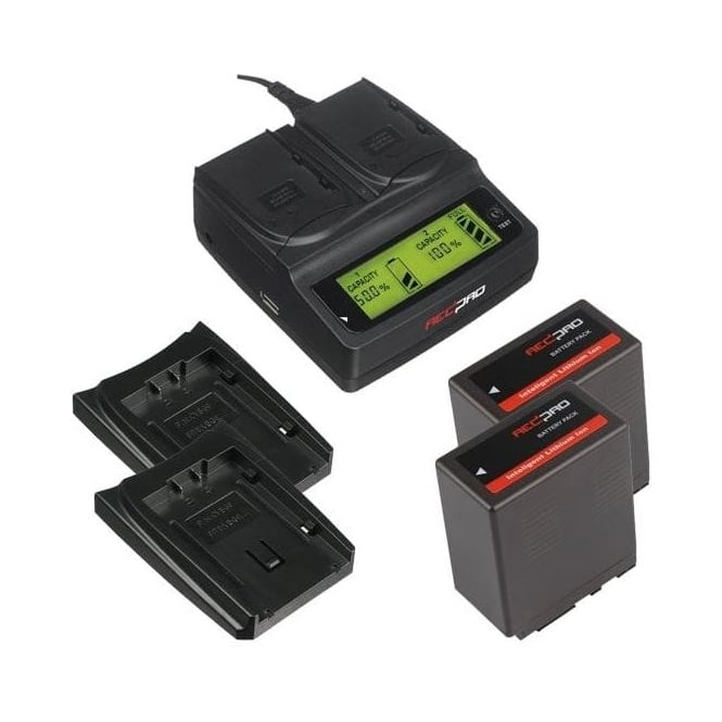 Redpro RP-DC20 Digital Dual Battery Charger with two batteries package g