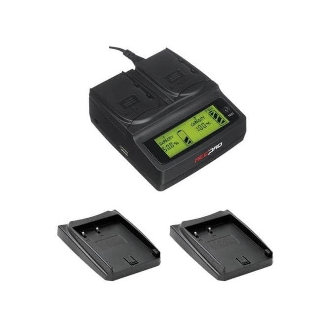 Redpro RP-DC20 Digital Dual Battery Charger for Panasonic GH3 and GH4 cameras package H