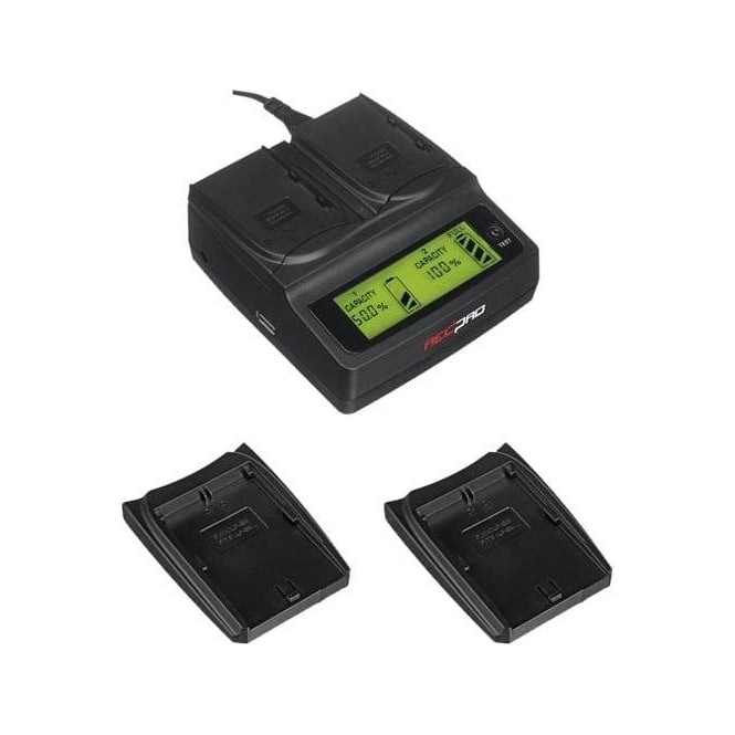 Redpro RP-DC20 Digital Dual Battery Charger for Canon EOS cameras package I