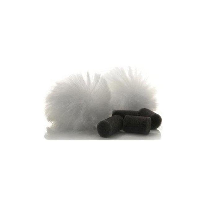 Rycote 065503 White Lavalier Windjammer - pair