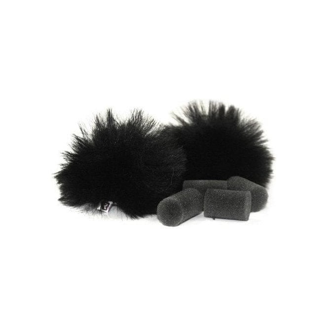 Rycote 065501 Black Lavalier Windjammer  - pair