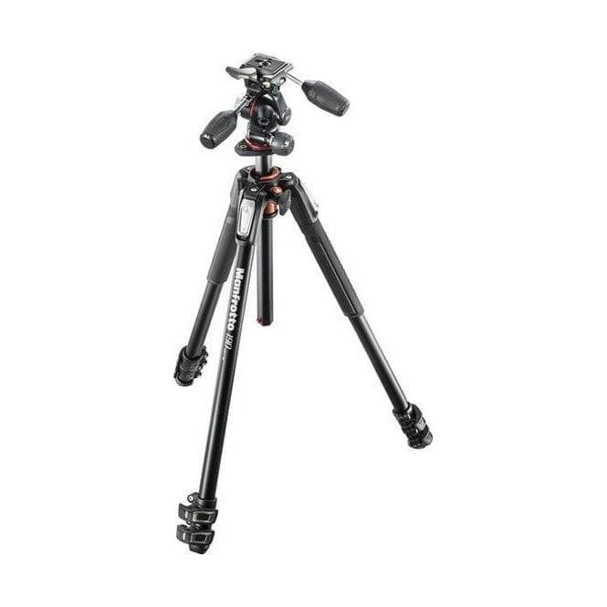 Manfrotto MK190XPRO3-3W 190 Aluminium 3-Section Kit With 3-Way Head