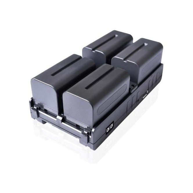 Cineroid 4in1-SLVA NPF Battery Hub with V-Lock Mount