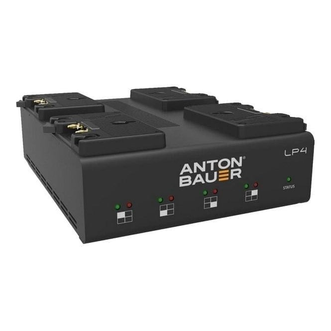 Anton Bauer ATB-8475-0126 LP4 Quad Gold Mount Charger