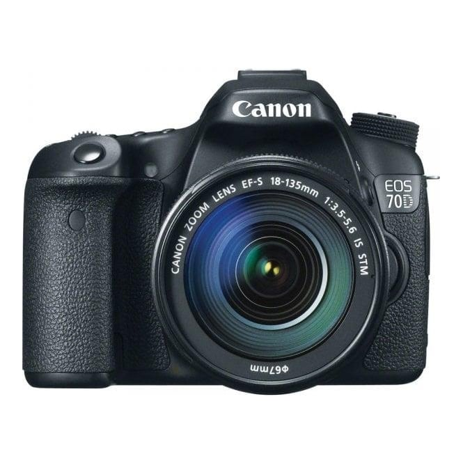 Canon EOS 70D camera with EF-S 18-135mm f/3.5-5.6 IS STM Lens