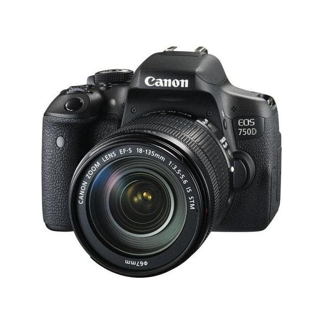 Canon EOS-750D Digital SLR Camera with 18-135mm IS STM Lens