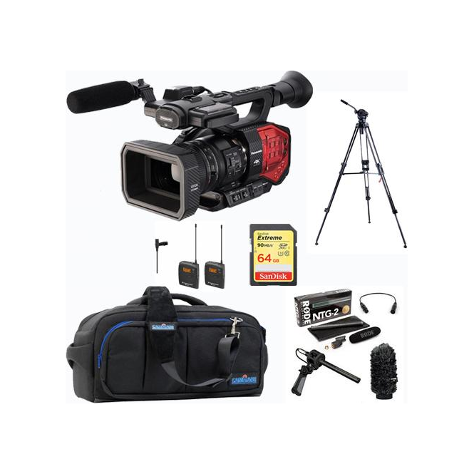 Panasonic PAN-AGDVX200 4K 4/3 type Fixed lens Camcorder Package D