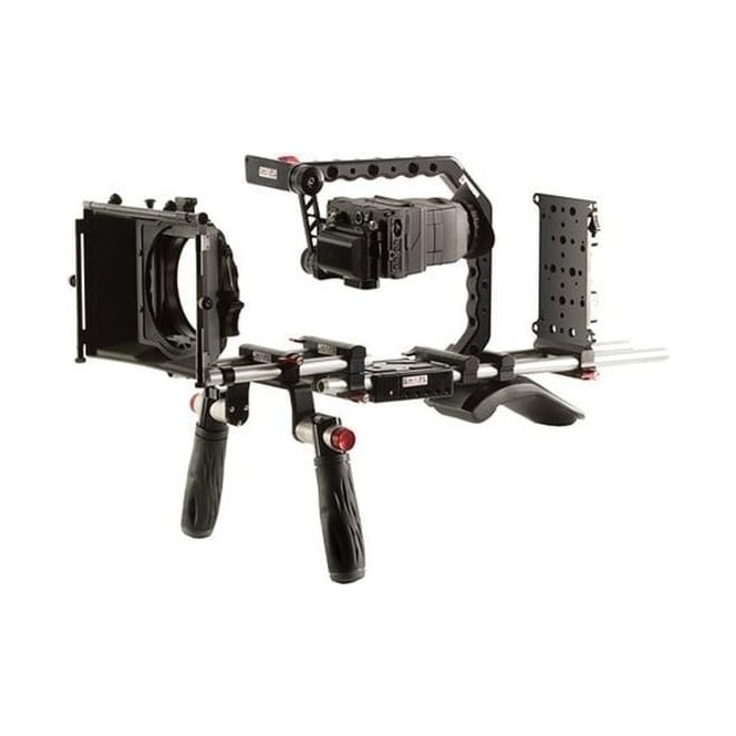 Shape SH-BRGH4ANTON Panasonic GH4 Shoulder Mount Bundle with Gold Mount Battery Plate